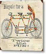Bicycle For 2 Metal Print