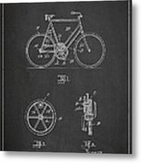 Bicycle Gear Patent Drawing From 1922 - Dark Metal Print