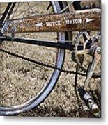 Bicycle Gears Metal Print by Debra and Dave Vanderlaan