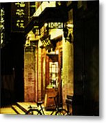 Bicycle On The Streets Of Beijing At Night Metal Print