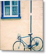 Bicycle On The Streets Of Old Quebec City Metal Print