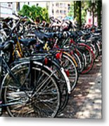 Bicycle Parking Lot Metal Print