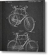 Bicycle Patent Metal Print