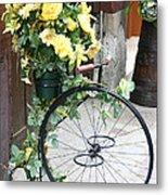 Bicycle Plant Holder Metal Print