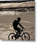 Bicycle Rider Metal Print by Arie Arik Chen