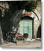 Bicycle Stop Metal Print