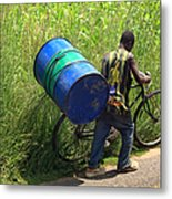Bicycle Strain Metal Print