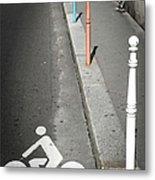 Bicycle Symbol In Paris Metal Print