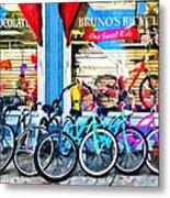 Bicycles And Chocolate Metal Print