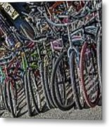 Bicycles For Rent Metal Print