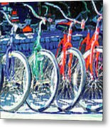 Bicycles In A Row San Diego Metal Print