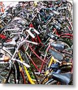 Bicycles In Amsterdam Metal Print
