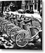 Bicycles - Velib Station - Paris Metal Print