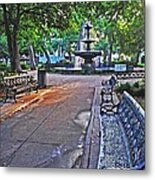 Bienville Square And The Bench 2 Metal Print