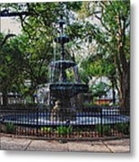 Bienville Square Fountain Closeup Metal Print