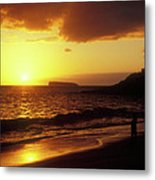 Big Beach Sunset Maui Hawaii Metal Print