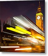 Big Ben And A Bus Trail Metal Print