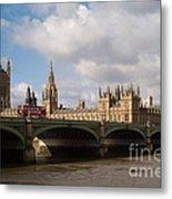 Big Ben And Houses Of Parliament Metal Print