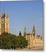 Big Ben And The Houses Of Parliament In London England Metal Print