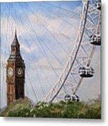 Big Ben And The London Eye Metal Print