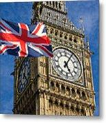 Big Ben And Union Jack Metal Print