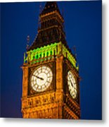Big Ben At Night Metal Print