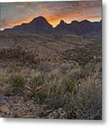 The Window View Of Big Bend National Park At Sunrise Metal Print