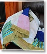 Big Blocks Patchwork Quilt Metal Print