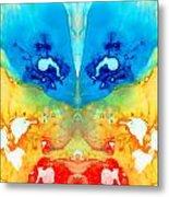 Big Blue Love - Visionary Art By Sharon Cummings Metal Print