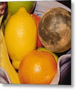 Big Bowl Of Fruit Metal Print