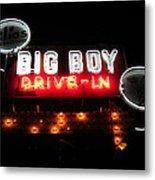 Big Boy Drive-in At Night Metal Print