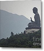 Big Buddha In Hong Kong Metal Print