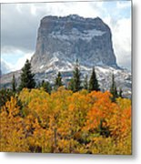 Big Chief Mountain - The Rock Of Legend Metal Print