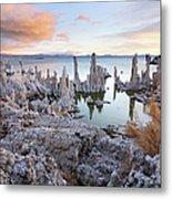 Big Cloud Above Tufas On Mono Lake Metal Print