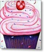 Big Cupcake Metal Print
