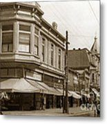 Big Curio Store Santa Cruz At 28 Pacific Avenue On The Corner Of Lincoln And Pacific. 1908 Metal Print