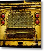 Big Dump Truck Grille Metal Print