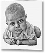 Big Eyes Metal Print
