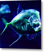 Big Fish Small Fish - Electric Metal Print