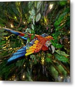 Big Glider Macaw Digital Art Metal Print
