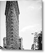Big In The Big Apple - Bw Metal Print by Hannes Cmarits