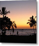 Big Island Hawaii Kona Red Sky Metal Print