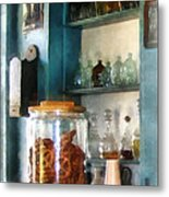 Big Jar Of Pretzels Metal Print