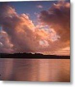 Big Lagoon Sunset Colors Metal Print