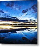 Big Lake After Sunset Metal Print