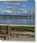 Big Mackinac Bridge 72 Metal Print
