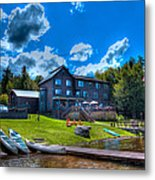 Big Moose Inn - Eagle Bay New York Metal Print