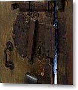 Big Old Lock Metal Print
