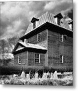 Big Otter Mill Ca 1785 Bw Metal Print