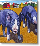 Big Pigs Metal Print by Stacey Neumiller